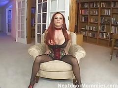 Redhead mom swallows cum from a big cock tubes