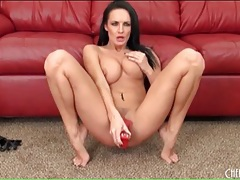 Naked alektra blue fucks a red dildo solo tubes
