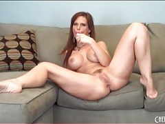 Curvy solo mom with fake tits has toy sex tubes