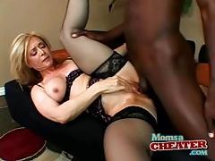 Nina hartley interracial sex in black lingerie tubes
