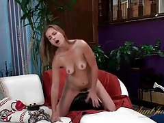 Milf miss melrose strips and sits on the sybian tubes