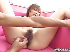 Asian babe loves sex toys tubes