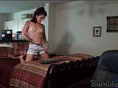 Sexy tattoos on a cute brunette webcam girl tubes