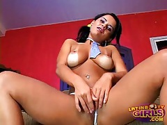 Cute solo latina dressed like a slut and stripping tubes