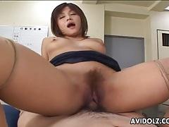 Asian babe got rammed hard and deep tubes