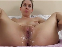 Cuckold creampie humiliation talk from a beauty tubes