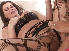 Two beauties in lingerie have hot sex tubes