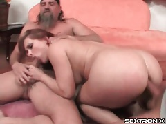 Katja kassin face and ass fucked in threesome tubes
