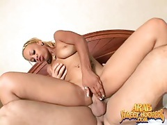 Horny cocksucking girl rides his fat dick tubes