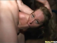Party girls get fucked at a wild orgy tubes