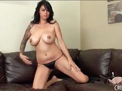 Curvy tera patrick oils up her big titties tubes