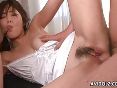 White lingerie looks sexy on japanese cocksucker tubes