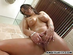 Very busty amateur girlfriend bathroom action tubes
