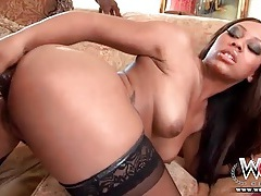 Tattooed back girl sucks his huge black cock tubes