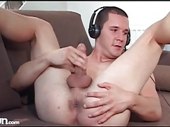 Guys jerk off to each other in webcam show tubes