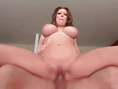 Gorgeous big tits on a cock riding slut tubes