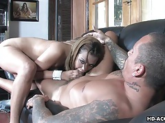 Impeccable blonde gal enjoys being mouth fucked tubes
