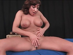 Fit milf puts on a solo striptease performance tubes