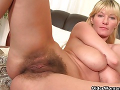 Soccer moms with big tits and hairy pussy masturbate tubes