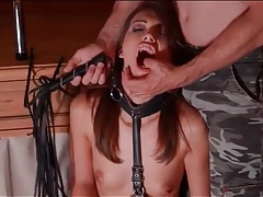 Pretty bound girl likes rough treatment tubes