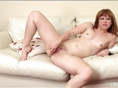 Cute little tits on a dildo fucking solo girl tubes