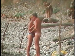 Bikini girl sucks cock on the beach tubes