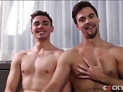Cute guys chat before making blowjob porn tubes