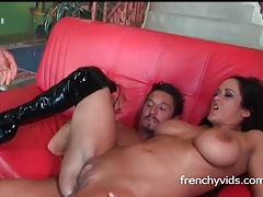 Carmella bing double penetration in boots tubes