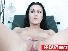 Girl gets her gyno exam and we look inside tubes