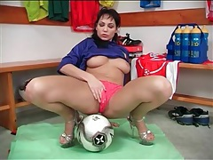 Soccer jersey is sexy on a brunette girl tubes