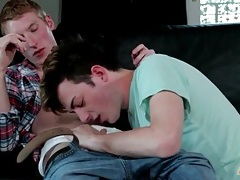 Sensual twink foreplay video with hot kissing tubes