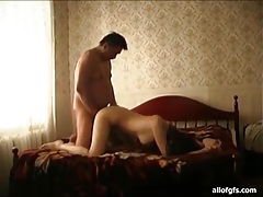 Old man dick fucks young lady in bed tubes