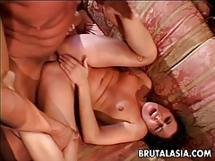 Captivating asian tart moans during wild anal sex tubes