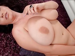 Huge breasts model in sensual solo video tubes