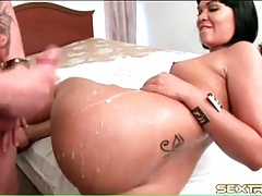 Latina fuck with a nice shot of her round ass tubes