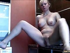 Blonde cutie selfshot striptease video tubes