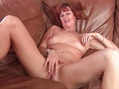 Naked solo mature redhead masturbates pussy tubes