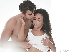 Foreplay porn with small tits brunette babe tubes
