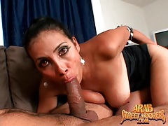 Busty arab girl sucks dick and gets laid tubes