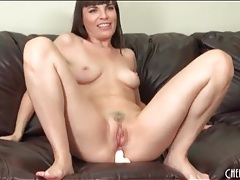 Three toys up the asshole of dana dearmond tubes
