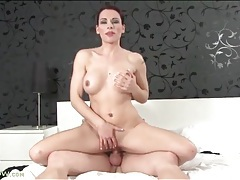 Big titty redhead mom sucks on a cock tubes