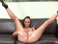 Jennifer dark solo masturbation in heels tubes