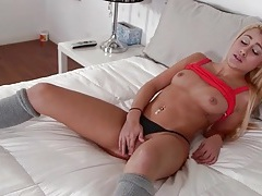 Latina cutie marina angel flashes her little tits tubes