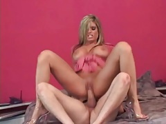 Mommy whore kristal summers bounces on dick tubes