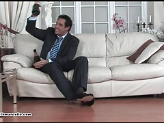 Drunk stud marcello receives blowjob and wank by horny fetish burglar tubes