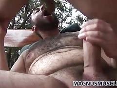 Chubby bear with a beard fucked in the ass tubes