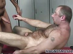 Two hot bears fuck in the locker room tubes