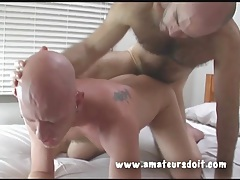 Bears lube up and have hot anal sex tubes