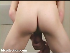 Fun with a football and twink cock tubes