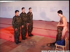 Naked military boys train and suck cock tubes